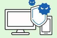 パソコンやスマホのセキュリティー対策ソフト。あなたをインターネットから守ります