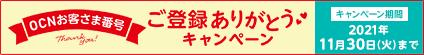 dアカウント×OCN連携記念 OCNお客さま番号ご登録ありがとうキャンペーン